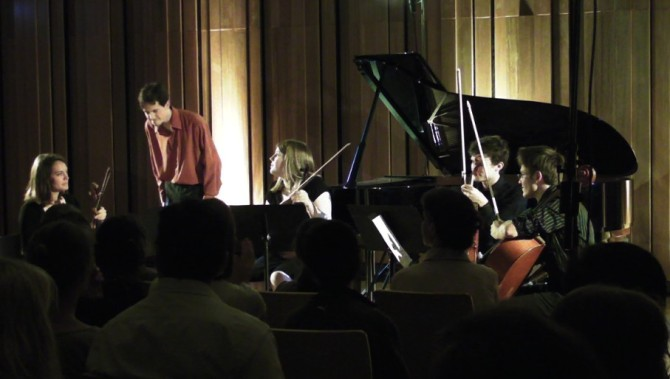 """""""Soirée Chopin"""" in Strasbourg 2010 - 2nd concerto with Caroline Drouin, Claire Meyer, Joachim Angster and Alain Petitjean."""