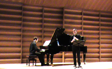 concert with clarinetist Justin Frieh